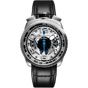 Bomberg Bolt-68 Black & Silver Automatic Chronograph