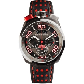 Bomberg Bolt-68 Black & Red Chronograph