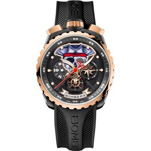 Bomberg Bolt-68 Pirate Red & Black Special Edition