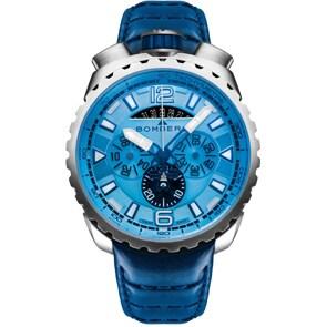 Bomberg Bolt-68 Steel & Blue Sapphire Chronograph