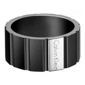 Calvin Klein Herrenring ck plate