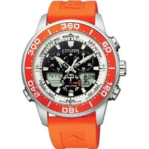 Citizen Promaster Marine Eco-Drive Yacht Timer Orange