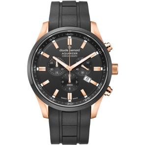 Claude Bernard Aquarider Chronograph Rosé / Silikon schwarz