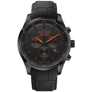 Claude Bernard Aquarider Chronograph Schwarz / Orange