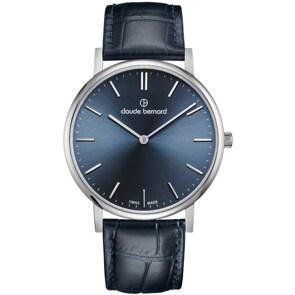 Claude Bernard Classic Slim Line Blau