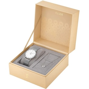 Cluse Minuit Silver Heart Gift Box