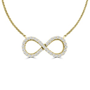 Collier 750/18 K Gelbgold mit Diamanten 0.33 ct H/si