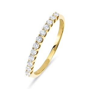 Damenring 750/18 K Gelbgold mit Diamanten 0.25 ct H/si
