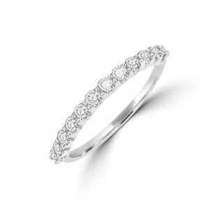 Damenring 750/18 K Weissgold mit Diamanten 0.25 ct H/si
