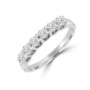Damenring 750/18 K Weissgold mit Diamanten 0.50 ct H/si