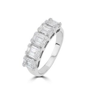 Damenring 750/18 K Weissgold mit Diamanten 0.66 ct H/si by CHRISTIAN