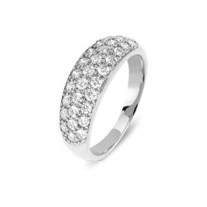 Damenring 750/18 K Weissgold mit Diamanten 0.79 ct H/Si