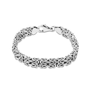Doppel-Königsarmband klassisch 925 Silber 8.0mm