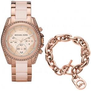 Exklusiv: Michael Kors Blair Chronograph mit Michael Kors Armband Core
