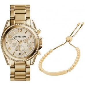 Exklusiv: Michael Kors Blair Chronograph mit Michael Kors Armband MK Heritage
