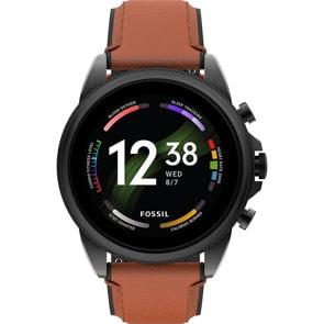 Fossil Gen 6 Smartwatch HR Leder braun 44