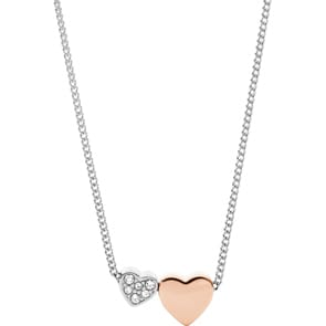 Fossil Halskette Vintage Two Tone Hearts