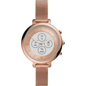 Fossil Monroe Hybrid Smartwatch HR Edelstahl roségoldfarben