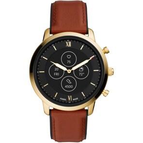 Fossil Neutra Hybrid Smartwatch HR Leder braun