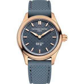 Frédérique Constant Vitality Smartwatch Ladies Rosé / Blau