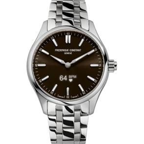 Frédérique Constant Vitality Smartwatch Silbrig / Braun