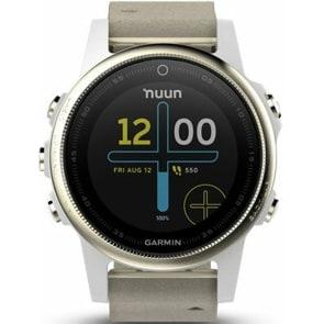 Garmin Fenix 5S Saphir GPS-Smartwatch mit Herzfrequenzmesser