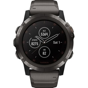 Garmin Fenix 5X Plus Saphir GPS-Multisport Smartwatch HR