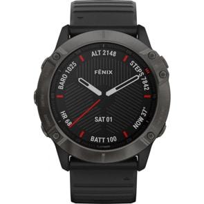 Garmin Fenix 6X Pro Saphir Schwarz GPS-Multisport-Smartwatch HR