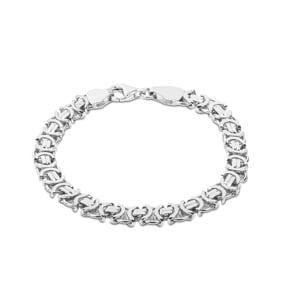Königsarmband flach 925 Silber 7.2mm