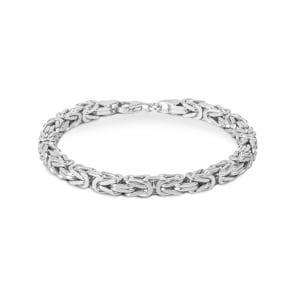Königsarmband klassisch 925 Silber 4.0mm