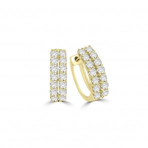 Kreolen 750/18 K Gelbgold mit Diamanten 0.75 ct H/si