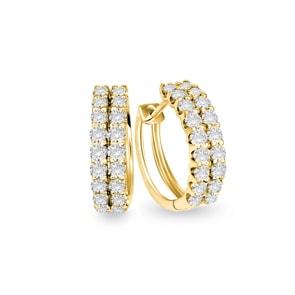 Kreolen 750/18 K Gelbgold mit Diamanten 1.00 ct H/si