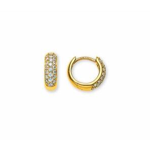 Kreolen 750/18 K Gelbgold mit Diamanten Ø 11mm