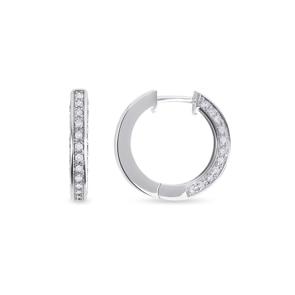 Kreolen 750/18 K Weissgold mit Diamanten 0.55 ct H/si