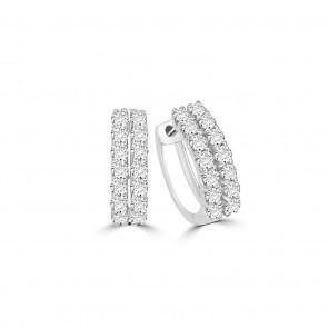 Kreolen 750/18 K Weissgold mit Diamanten 0.75 ct H/si