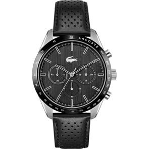 Lacoste Boston Chronograph Leder schwarz