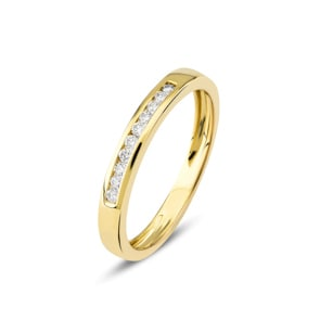 Mémoire-Ring 750/18 K Gelbgold mit Diamanten 0.10 ct H/si