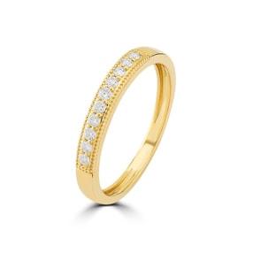 Mémoire-Ring 750/18 K Gelbgold mit Diamanten 0.14 ct H/si