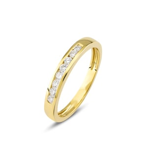 Mémoire-Ring 750/18 K Gelbgold mit Diamanten 0.22 ct H/si