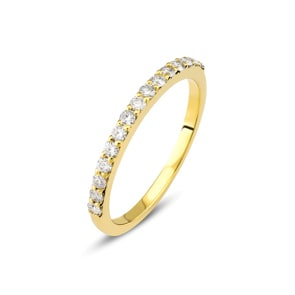 Mémoire-Ring 750/18 K Gelbgold mit Diamanten 0.26 ct H/si