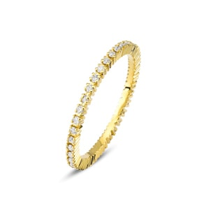 Mémoire-Ring 750/18 K Gelbgold mit Diamanten 0.30 ct H/si