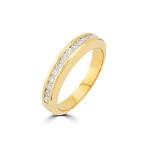 Mémoire-Ring 750/18 K Gelbgold mit Diamanten 0.38 ct H/si
