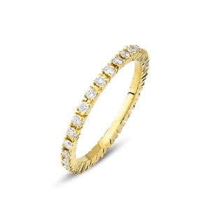 Mémoire-Ring 750/18 K Gelbgold mit Diamanten 0.50 ct H/si