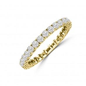 Mémoire-Ring 750/18 K Gelbgold mit Diamanten 1.00 ct H/si