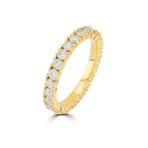 Mémoire-Ring 750/18 K Gelbgold mit Diamanten 1.50 ct H/si