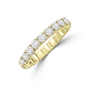 Mémoire-Ring 750/18 K Gelbgold mit Diamanten 2.00 ct H/si