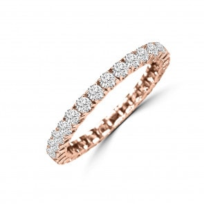Mémoire-Ring 750/18 K Roségold mit Diamanten 1.00 ct H/si