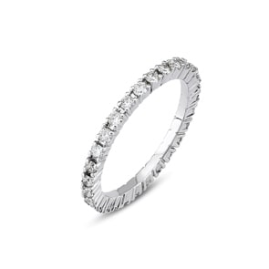Mémoire-Ring 750/18 K Weissgold mit Diamanten 0.50 ct H/si