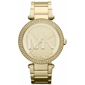Michael Kors Parker Gold MK Logo