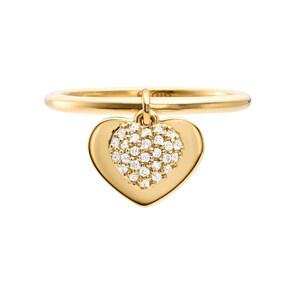 Michael Kors Premium 925 Silber Damenring MK Love